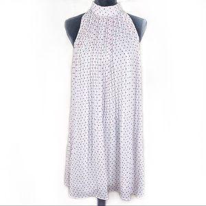 PINS AND NEEDLES polka dot pleated dress medium
